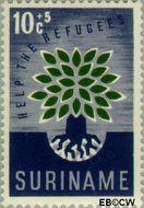 Suriname SU 346  1960 Vluchtelingenjaar 10+5 cent  Gestempeld