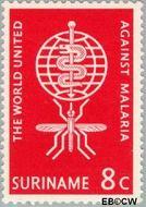 Suriname SU 384  1962 Werk World Health Organisation 8 cent  Gestempeld