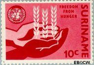 Suriname SU 394  1963 Anti-honger campagne V.N. 10 cent  Gestempeld