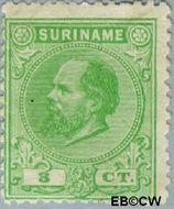 Suriname SU 4  1873 Eerste emissie 3 cent  Gestempeld