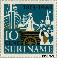 Suriname SU 404  1963 Onafhankelijk Nederland 10 cent  Gestempeld
