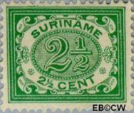 Suriname SU 44  1902 Drukwerkzegel 2½ cent  Gestempeld