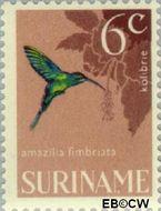 Suriname SU 444  1966 Vogels 6 cent  Gestempeld