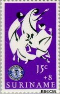 Suriname SU 454  1966 Service clubs 15+8 cent  Gestempeld