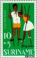 Suriname SU 484  1967 Kinderspelen 10+5 cent  Gestempeld