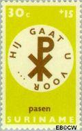 Suriname SU 494  1968 Pasen 30+15 cent  Gestempeld