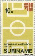 Suriname SU 544  1970 Surinaamse Voetbalbond 10 cent  Gestempeld