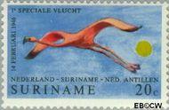 Suriname SU 554  1971 Lijndienst Amsterdam-Paramaribo 20 cent  Gestempeld