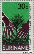Suriname SU 594  1972 Dienst Landbouwbeheer 30 cent  Gestempeld
