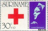Suriname SU 604  1973 Regeringsjubileum Juliana 30+10 cent  Gestempeld