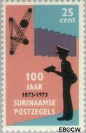 Suriname SU 614  1973 Postzegeljubileum 25 cent  Gestempeld