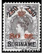 Suriname SU 64  1911 Hulpuitgifte 30 op 250 cent  Gestempeld