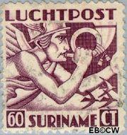 Suriname SU LP21  1941 Mercurius 60 cent  Gestempeld