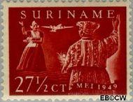 Suriname SU LP31  1949 Eerste vlucht Paramaribo-Amsterdam 27½ cent  Gestempeld