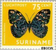 Suriname SU LP59  1972 Vlinders 75 cent  Gestempeld