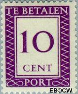 Suriname SU PT40  1950 Port 10 cent  Gestempeld