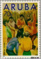Aruba AR 123  1993 Folklore 70 cent  Gestempeld