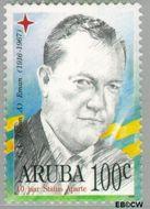 Aruba AR 173  1996 Politici 100 cent  Gestempeld