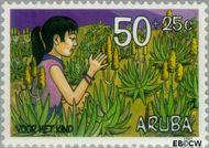 Aruba AR 204  1997 Kind en natuur 50+25 cent  Gestempeld