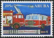 Aruba AR 367  2006 Brandweer 100 cent  Gestempeld