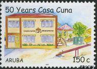 Aruba AR 375  2007 Casa Cuna kinderopvanghuis 150 cent  Gestempeld