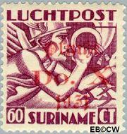 Suriname SU LP12  1930 DO. X vlucht 60 cent  Gestempeld
