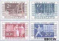 Nederland NL 592#595  1952 Postzegeltentoonstelling I.T.E.P.   cent  Gestempeld