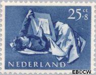 Nederland NL 653  1954 Opvoeding en leren 25+8 cent  Gestempeld