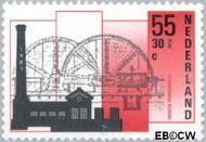 Nederland NL 1372  1987 Industriële Monumenten 55+30 cent  Gestempeld