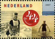 Nederland NL 2497a  2007 Strandpret toen en nu 44+22 cent  Gestempeld