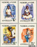 Nederlandse Antillen NA 376#379  1966 Werken  cent  Gestempeld