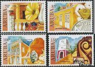Aruba AR 376#379  2007 Historische musea  cent  Gestempeld