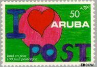 Aruba AR 113  1992 Postverkeer 50+30 cent  Gestempeld