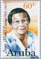 Aruba AR 183  1996 Bekende vrouwen 60 cent  Gestempeld