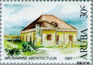 Aruba AR 193  1997 Architectuur 30 cent  Gestempeld
