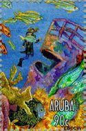 Aruba AR 196h  1997 Pacific '97 tentoonstelling 90 cent  Gestempeld