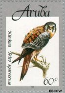 Aruba AR 214  1998 Vogels 60 cent  Gestempeld