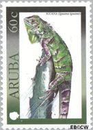 Aruba AR 244  2000 Hagedissen 60 cent  Gestempeld