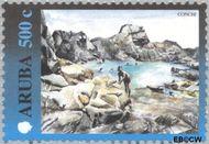 Aruba AR 254  2000 Landschappen 500 cent  Gestempeld