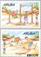 Aruba AR 255#256  2000 Solidariteit  cent  Gestempeld