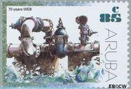 Aruba AR 284  2002 Water- en energiebedrijf 85 cent  Gestempeld