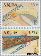 Aruba AR 286#287  2002 UPAEP 2002  cent  Gestempeld