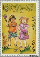 Aruba AR 324  2004 Kinderzegels 60+30 cent  Gestempeld