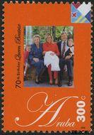 Aruba AR 391  2008 Koningin Beatrix 300 cent  Gestempeld