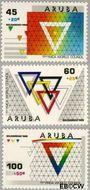 Aruba AR 46#48  1988 Solidariteit  cent  Postfris