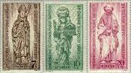 Berlin ber 132#134  1955 Bisdom Berlijn  Postfris