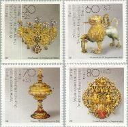Berlin ber 818#821  1988 Goud- en zilversmeedkunst  Postfris