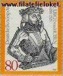 Bundesrepublik BRD 1364#  1988 Hutten, Ulrich von  Postfris
