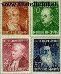 Bundesrepublik BRD 156#159  1952 Bekende personen  Postfris