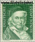 Bundesrepublik BRD 204#  1955 Gauß, Carl Friedrich  Postfris
